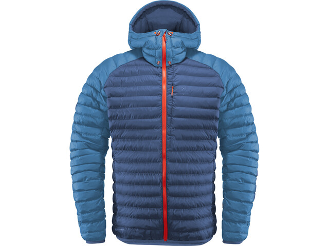 Haglöfs Essens Mimic Hooded Jacket Herren tarn blue/blue ink
